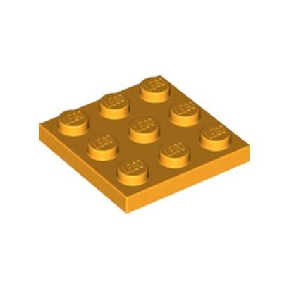 LEGO 6294582 PLATE 3X3 - FLAME YELLOWISH ORANGE