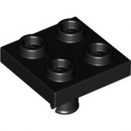 LEGO 6328479 PLATE 2X2 INVERTED W. SNAP - BLACK