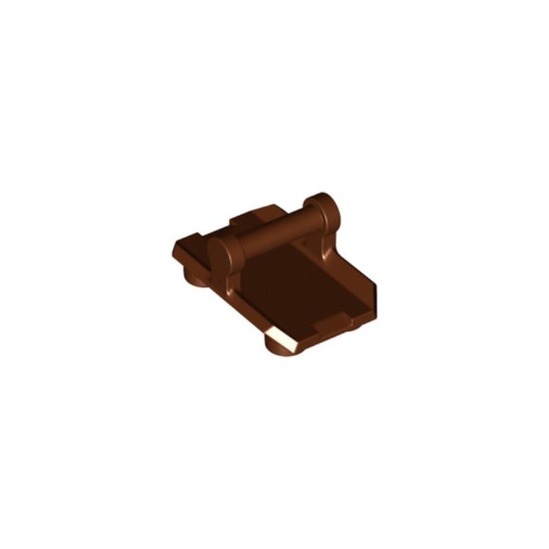 LEGO 6328480 PLATE 2X3 W/ HOR. 3,2 SHAFT - REDDISH BROWN