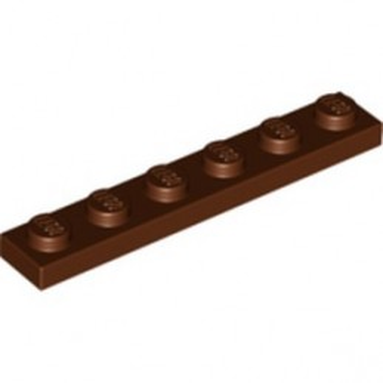 LEGO 4221590 PLATE 1X6 - REDDISH BROWN
