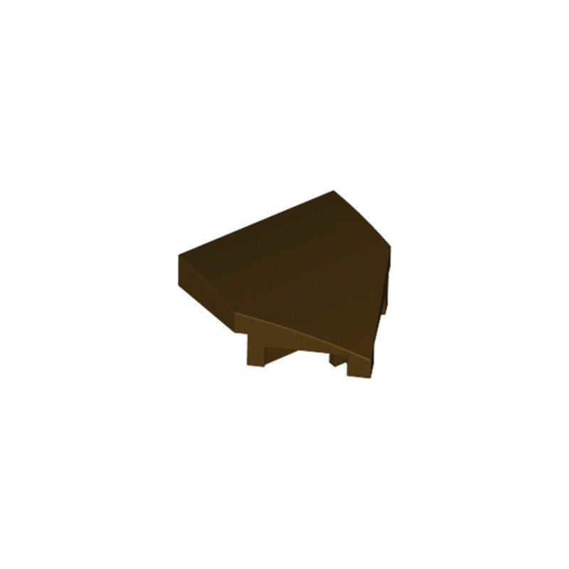 LEGO 6308903 PLATE W/ BOW 2X2X2/3, 45° - DARK BROWN