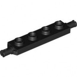 LEGO 6338416 BEARING PLATE 1X4, DOUBLE - BLACK