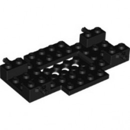 LEGO 6285534 WHEEL BEARING 6X10X1, W/ MINI SNAP - BLACK