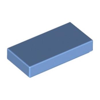 LEGO 4168345 FLAT TILE 1X2 - MEDIUM BLUE