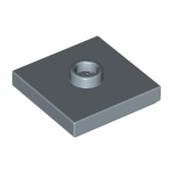 LEGO 6057880 PLATE 2X2 W 1 KNOB - SAND BLUE