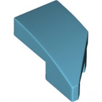 LEGO 6296904 LEFT PLATE 1X2, W/ BOW, 45 DEG. CUT - MEDIUM AZUR