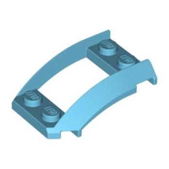 LEGO 6186580 PLATE 2X4X1 1/3 W. SIDE BOW - MEDIUM AZUR