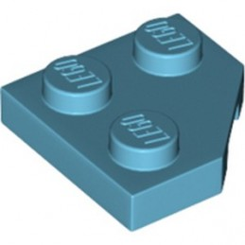 LEGO 6249415 PLATE 2X2, CORNER, 45 DEG. - MEDIUM AZUR
