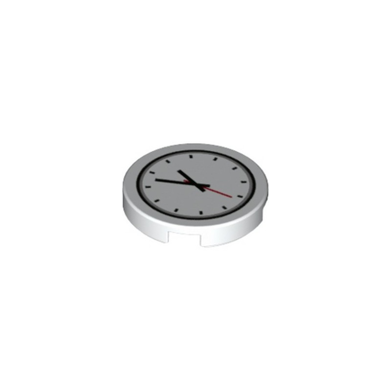 LEGO 6329606 FLAT TILE 2X2 ROUND PRINTED WATCH