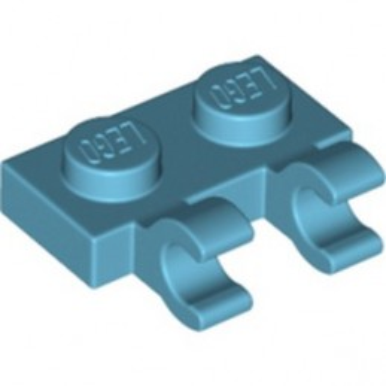 LEGO 6337269 PLATE 1X2 W/HOLDER, VERTICAL - MEDIUM AZUR