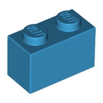 LEGO 6004943 BRIQUE 1X2 - DARK AZUR