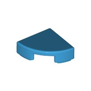 LEGO 6199887 FLAT TILE 1/4 ROUND 1X1 - DARK AZUR