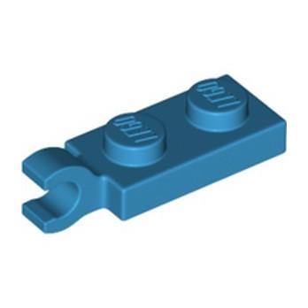 LEGO 6354673 PLATE 2X1 W/HOLDER,VERTICAL - DARK AZUR