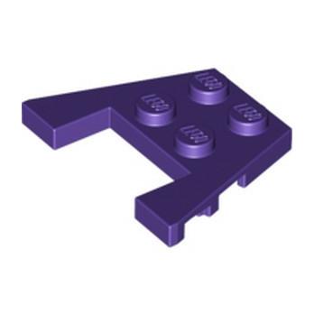 LEGO 6170530 PLATE 3X4 W/ANGLES - MEDIUM LILAC