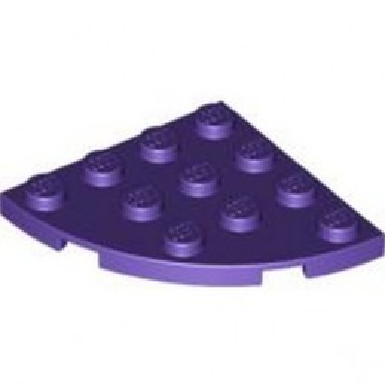 LEGO 6109933 PLATE 4X4, 1/4 CIRCLE - MEDIUM LILAC