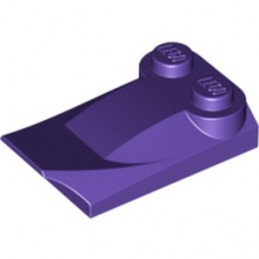 LEGO 6073778 PLATE W. BOWS 2X3½ - MEDIUM LILAC