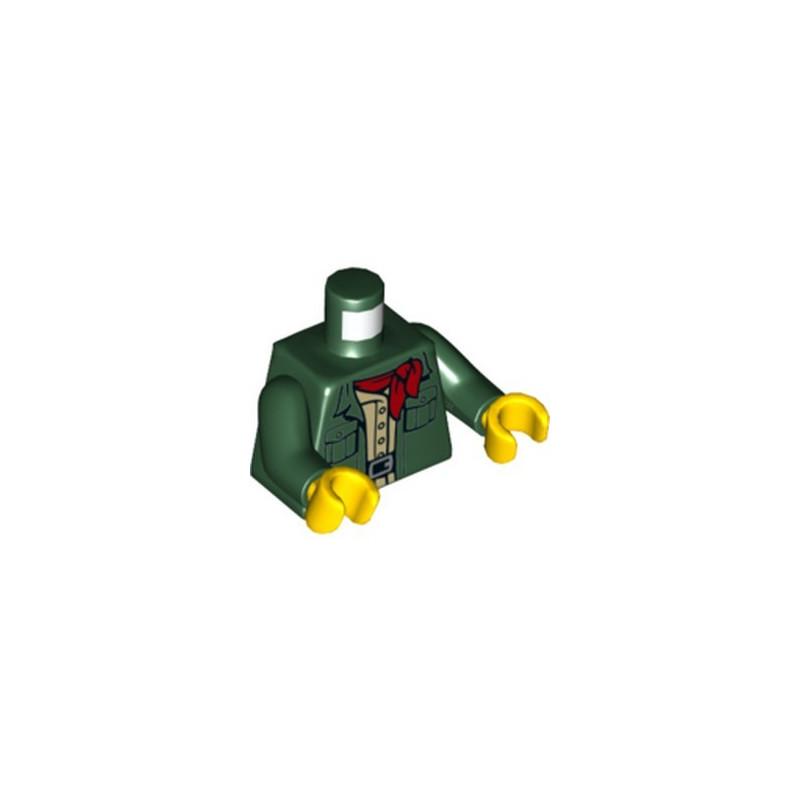 LEGO 6288580 WOMAN TORSO- EARTH GREEN