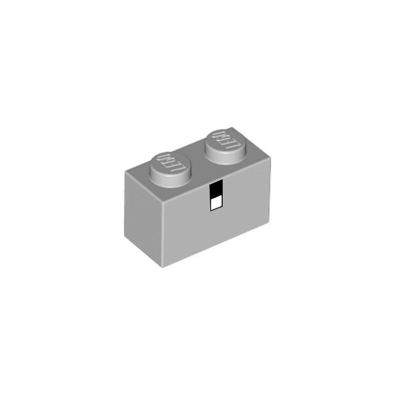 LEGO 6252694 BRICK 1X2 PRINTED MINECRAFT - MEDIUM STONE GREY