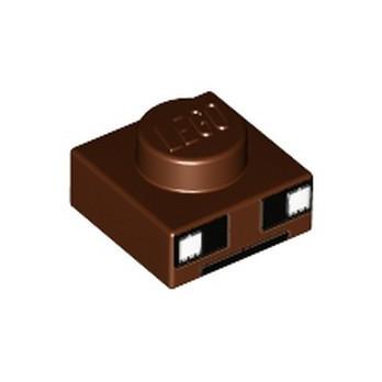LEGO 6195336 PLATE 1X1 PRINTED - REDDISH BROWN