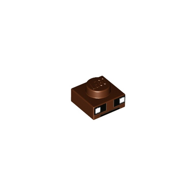 LEGO 6195336 PLATE 1X1 PRINTED - REDDISH BROWN