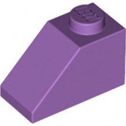 LEGO 6022005 ROOF TILE 1X2/45° - MEDIUM LAVENDER