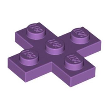 LEGO 6102516 PLATE 3X3, CROSS  - MEDIUM LAVENDER