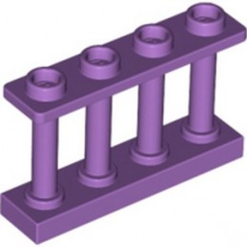 LEGO 6093465 FENCE 1X4X2 W. 4 KNOBS - MEDIUM LAVENDER