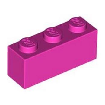 LEGO 4618655 BRIQUE 1X3 - ROSE