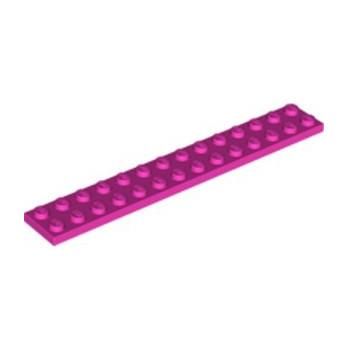 LEGO 6054390 PLATE 2X14 - DARK PINK