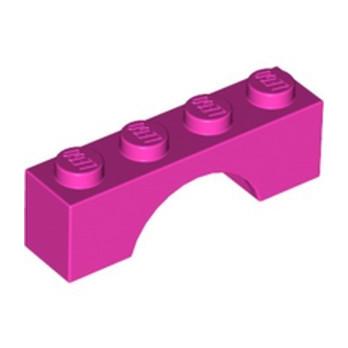 LEGO 4244613 BRICK W. BOW 1X4 - DARK PINK