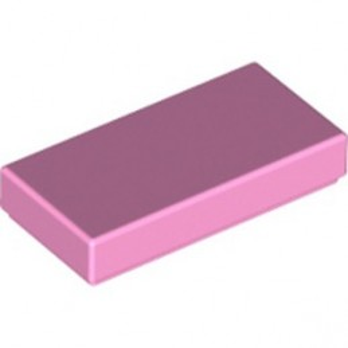 LEGO 4580010 FLAT TILE 1X2 - BRIGHT PINK