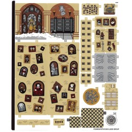 Stickers / Autocollant Lego Harry Potter 71043-4
