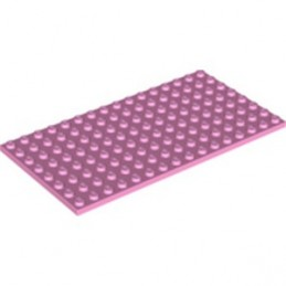 LEGO 6213259 PLATE 8X16 - BRIGHT PINK