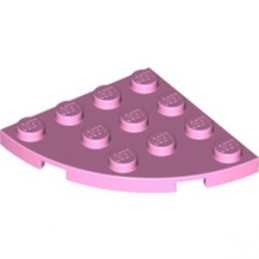 LEGO 6213793 PLATE 4X4, 1/4 CIRCLE - BRIGHT PINK