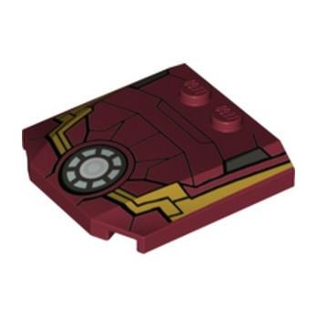 LEGO 6135213 PLATE 4X4X2/3 PRINTED - IRON MAN