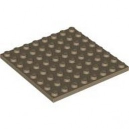 LEGO 4570111 PLATE 8X8 - SAND YELLOW