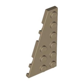 LEGO 6002851 LEFT PLATE 3X6 W ANGLE - SAND YELLOW