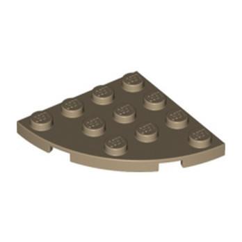 LEGO 4570451 PLATE 4X4, 1/4 CIRCLE - SAND YELLOW