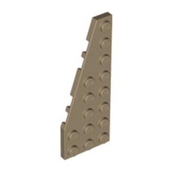 LEGO 6028022 LEFT PLATE 3X8 W/ANGLE - SAND YELLOW
