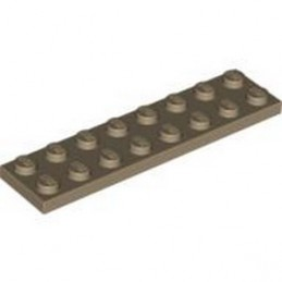 LEGO 4246957 PLATE 2X8 - SAND YELLOW