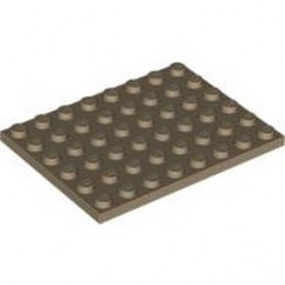 LEGO 4251796 PLATE 6X8 - SAND YELLOW