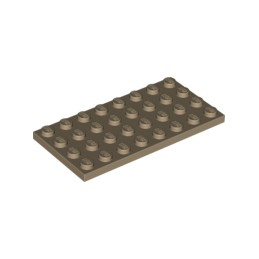 LEGO 6006524 PLATE 4X8 - SAND YELLOW