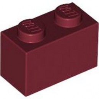 LEGO 4539102 BRICK 1X2 - NEW DARK RED