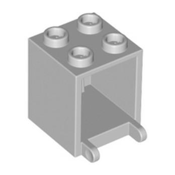 LEGO 4211491 MAILBOX, CASING 2X2X2 - MEDIUM STONE GREY