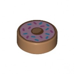 LEGO 6329593 FLAT TILE ROUND 1X1X1/3 PRINTED DONUTS