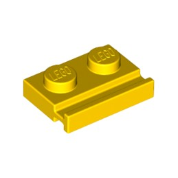 LEGO 4141630 PLATE 1X2 WITH SLIDE - YELLOW
