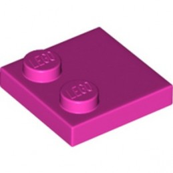 LEGO 6293401 PLATE 2X2, W/ REDUCED KNOBS - DARK PINK