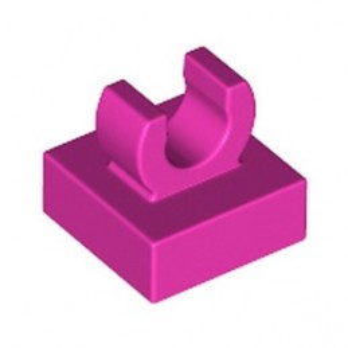 LEGO 6334514 PLATE 1X1 W. UP RIGHT HOLDER - DARK PINK