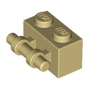 LEGO 4288513 BRICK 1X2 WITH STICK - TAN