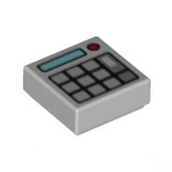 LEGO 6329583 FLAT TILE 1X1 PRINTED KEYBOARD - MEDIUM STONE GREY